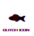 fish icon flat vector image vector image