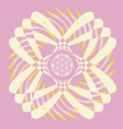 flower of life seed pink mandala vector image vector image