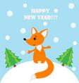 fox in winter landscape vector image
