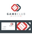 Game club or casino logo template with business vector image vector image