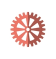 gear cog wheel red icon vector image