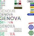 Genova text design set vector image vector image
