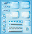 glass transparent icons set for ui game vector image vector image