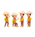 group of character vietnamese children vector image