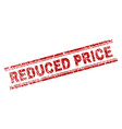 grunge textured reduced price stamp seal vector image