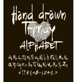 Hand drawn alphabet set of calligraphic vector image
