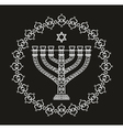 Hanukkah holiday background with menorah vector image vector image