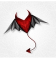heart demon with wings EPS 10 vector image