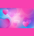 hearts wallpaper happy valentines day gradient vector image vector image