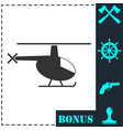 helicopter icon flat vector image vector image