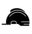 helmet solid icon construction safety vector image