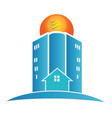 house buildings and city apartments icon vector image vector image