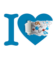 I love chemistry vector image