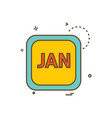 january calender icon design vector image vector image