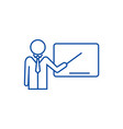 lecturerpresentation with pointer line icon vector image vector image