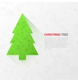Modern flat christmas tree with triangles vector image vector image