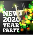 new year banner transparent champagne glass vector image vector image