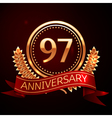 Ninety seven years anniversary celebration with vector image vector image
