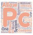 PC2PC Server Document Exchange text background vector image vector image