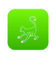 playful monkey icon green vector image vector image