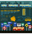 Public transportation ingographics Buses vector image vector image