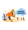 referral marketing business announcement and vector image vector image