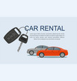 rental car rental concept with cars vector image