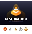 Restoration icon in different style vector image