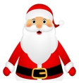 Santa Claus standing on a white background vector image vector image