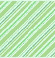 seamless striped background watercolor green vector image