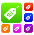 seo tag set collection vector image