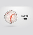 silhouette of a baseball ball vector image