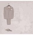 sketch groom suit vector image vector image