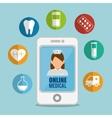 smartphone medicine online application icons vector image