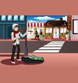 street musician vector image vector image