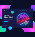 sushi banner design template seafood web vector image