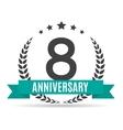 template logo 8 years anniversary