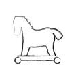 trojan horse virus vector image vector image