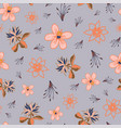 tropical flowers seamless pattern repeat on vector image vector image