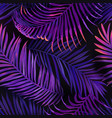 Tropical neon palm leaves seamless pattern floral