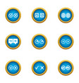 vote cast icons set flat style vector image vector image