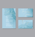 wedding tender invitations and card template vector image vector image