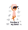 woman holding a banner vector image vector image