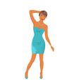 beautiful girl dancing isolated vector image