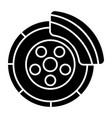 disc brake - car service icon vector image