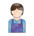 avatar plumber man icon vector image vector image