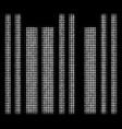 barcode halftone icon vector image vector image