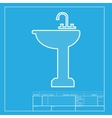 Bathroom sink sign White section of icon on vector image vector image