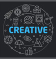 black line flat circle creative vector image