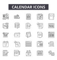 calendar concept line icons signs set vector image vector image